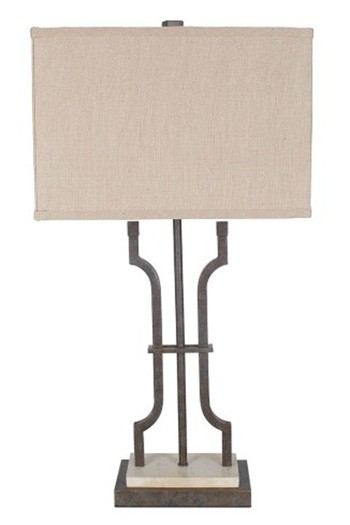Malik   Brown   Metal Table Lamp (1/CN)