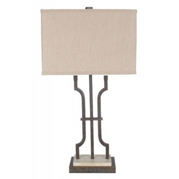 Malik - Brown - Metal Table Lamp (1/CN)