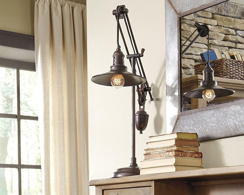 Kylen Bronze Finish Metal Desk Lamp 1 Cn L734152 Lamps