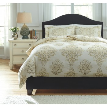Fairholm - Natural - Queen Duvet Set