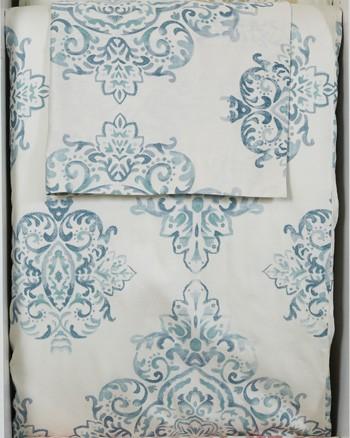 Fairholm - Turquoise - Queen Duvet Set