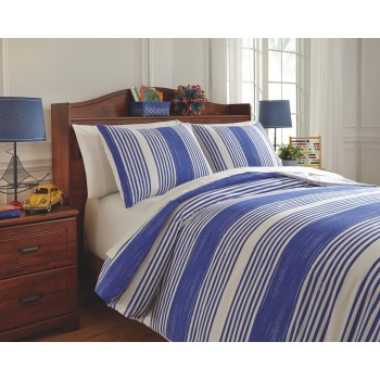 Taries - Blue - Full Duvet Set