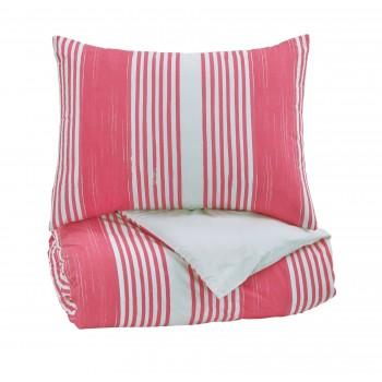 Taries - Pink - Twin Duvet Set