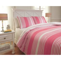 Taries - Pink - Full Duvet Set