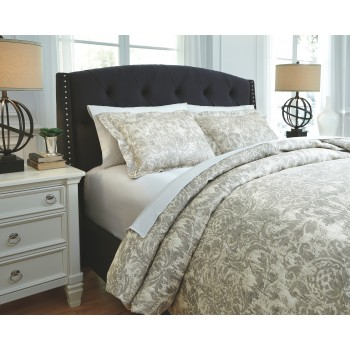 Kelby - Natural - Queen Duvet Set