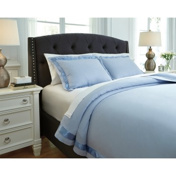 Farday - Soft Blue - Queen Duvet Set