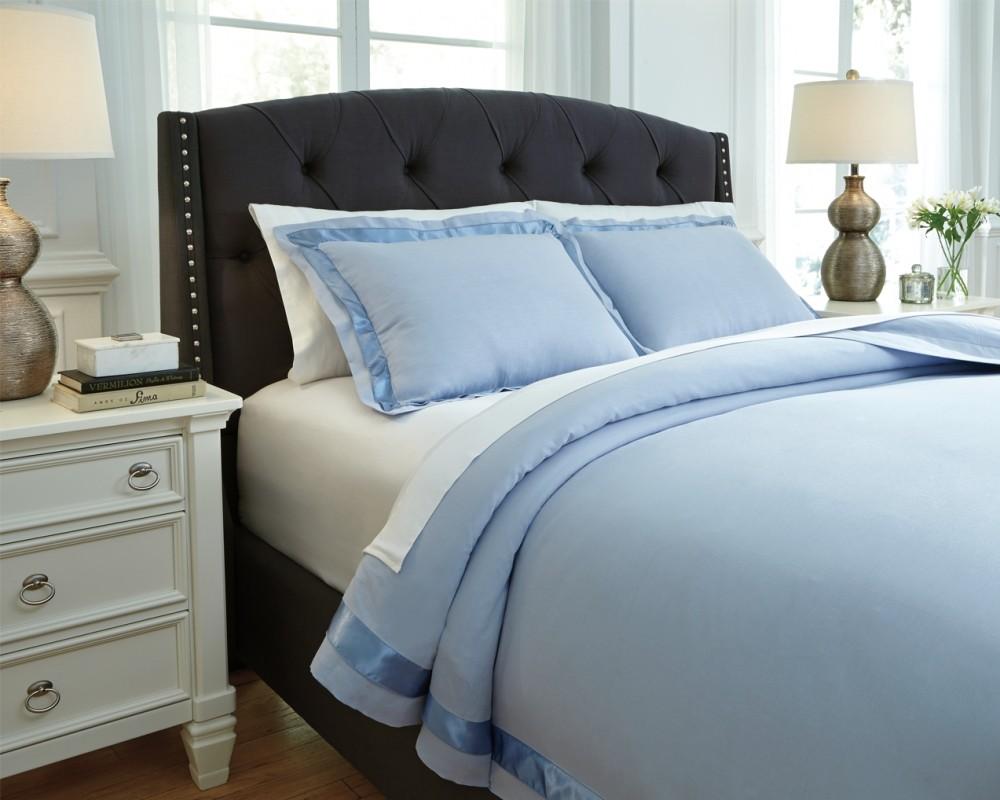 Farday - Soft Blue - Queen Duvet Set