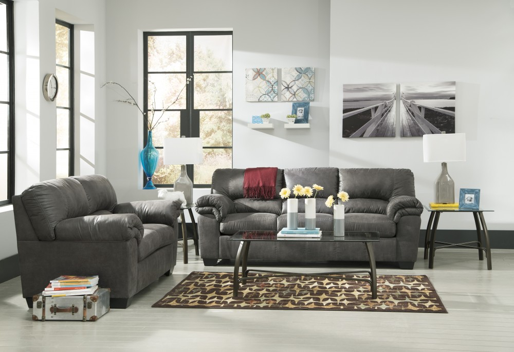 Bladen Slate Sofa Loveseat 12001 38 35 Living Room Groups