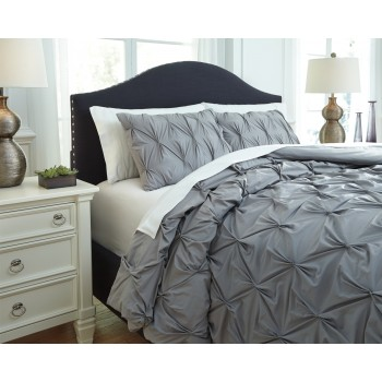 Rimy - Gray - King Comforter Set