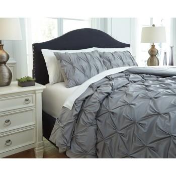 Rimy - Gray - Queen Comforter Set