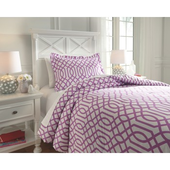 Loomis - Lavender - Twin Comforter Set