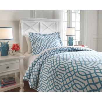 Loomis - Aqua - Twin Comforter Set