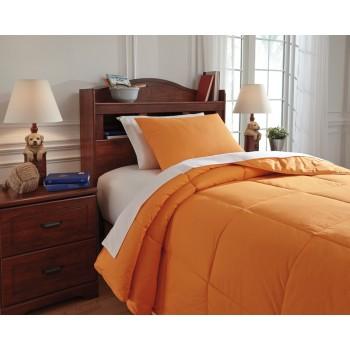 Plainfield - Orange - Twin Comforter Set