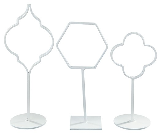 Acotas - White - Photo Holder (Set of 3)