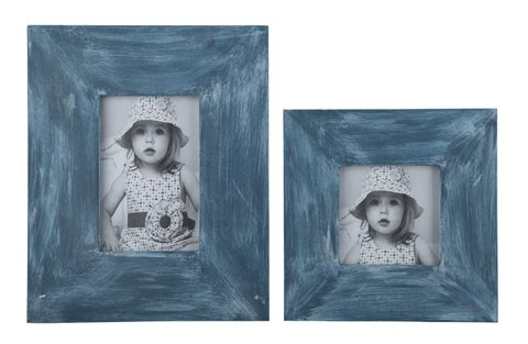 Baeddan - Antique Blue - Photo Frame (Set of 2)