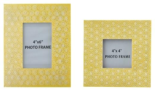 Bansi - Yellow - Photo Frame (Set of 2)