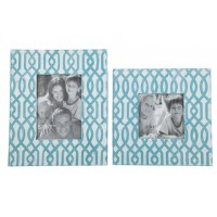 Baina - Teal/White - Photo Frame (Set of 2)