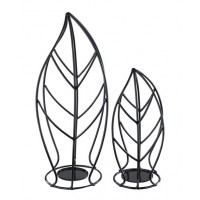Cadelaria - Black - Candle Holder (Set of 2)