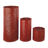 Caelan - Orange - Candle Holder (Set of 3)