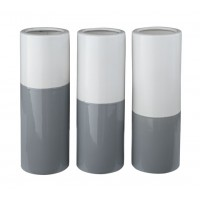 Dalal - Gray/White - Vase (Set of 3)