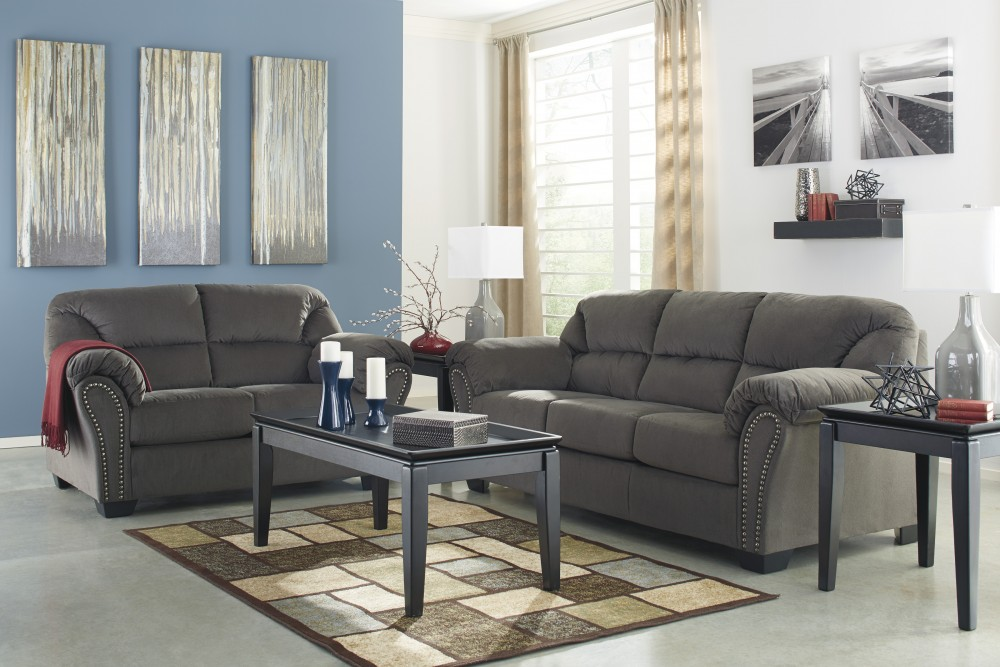 Kinlock   Charcoal   Sofa U0026 Loveseat