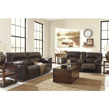 Barrettsville DuraBlend® - Chocolate - Reclining Sofa & Loveseat