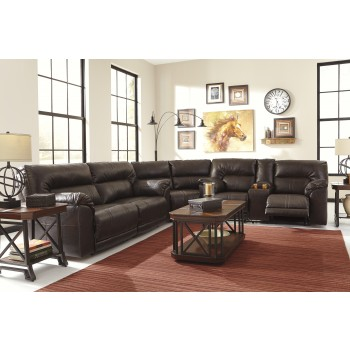 Barrettsville DuraBlend® - Chocolate 3 Pc Reclining Sectional