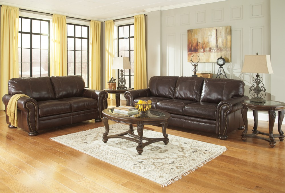 Banner - Coffee - Sofa & Loveseat