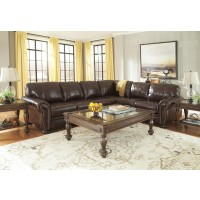 Banner - Coffee 3 Pc RAF Sofa Sectional