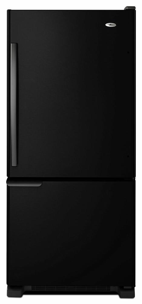 AMANA 29-inch Wide Amana(R) Bottom-Freezer Refrigerator with Garden Fresh(TM) Crisper Bins -- 18 cu. ft. Capacity - black