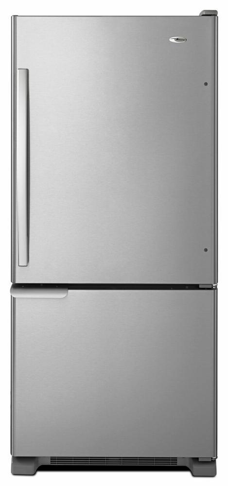 AMANA 29-inch Wide Amana(R) Bottom-Freezer Refrigerator with Garden Fresh(TM) Crisper Bins -- 18 cu. ft. Capacity - stainless steel