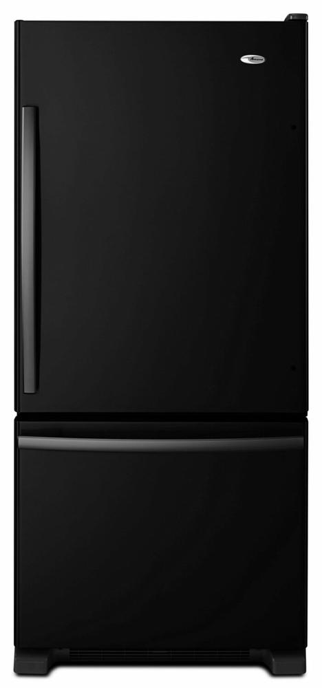 AMANA 29-inch Wide Amana(R) Bottom-Freezer Refrigerator with EasyFreezer(TM) Pull-Out Drawer -- 18 cu. ft. Capacity - black