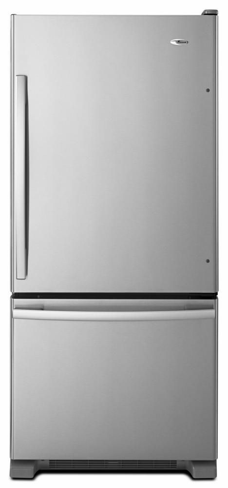 AMANA 29-inch Wide Amana(R) Bottom-Freezer Refrigerator with EasyFreezer(TM) Pull-Out Drawer -- 18 cu. ft. Capacity - stainless steel