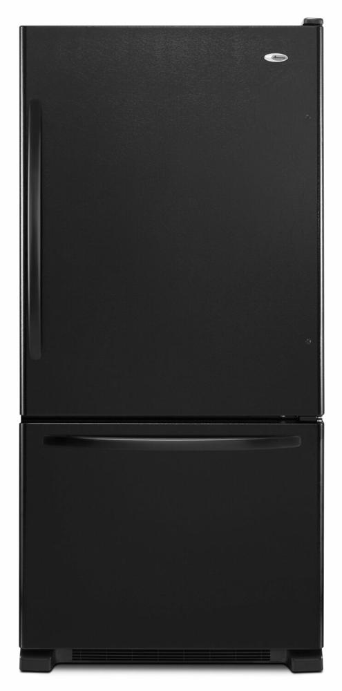 AMANA 32-inch Wide Amana(R) Bottom-Freezer Refrigerator with EasyFreezer(TM) Pull-Out Drawer - 22 cu. ft. Capacity - black
