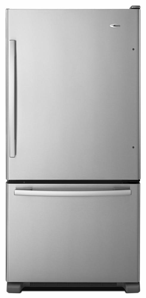 AMANA 32-inch Wide Amana(R) Bottom-Freezer Refrigerator with EasyFreezer(TM) Pull-Out Drawer - 22 cu. ft. Capacity - stainless steel