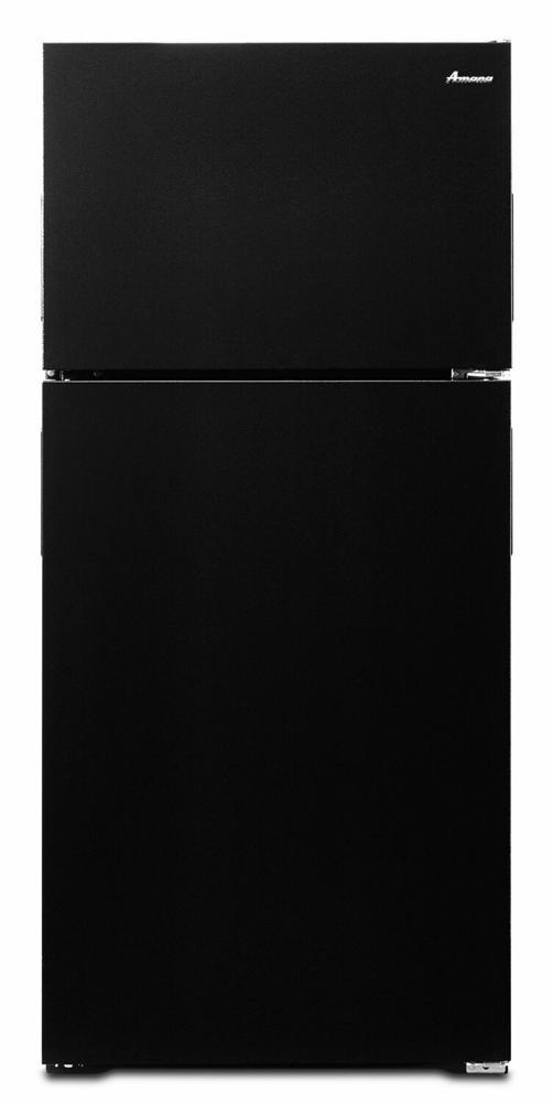 AMANA 28-inch Wide Top-Freezer Refrigerator with Gallon Door Storage - 14 cu. ft. - black
