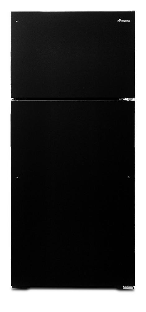AMANA 28-inch Wide Top-Freezer Refrigerator with Full-Width Crisper Drawer - 16 cu. ft. - black