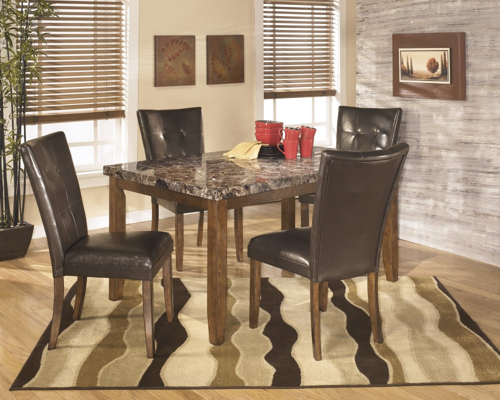 Lacey Rectangular Dining Room Table & 4 UPH Side Chairs