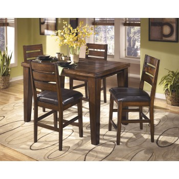 Larchmont Butterfly EXT Table & 4 UPH Bar Stools