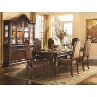 North Shore RECT Dining Room EXT Table & 4 UPH Side Chairs