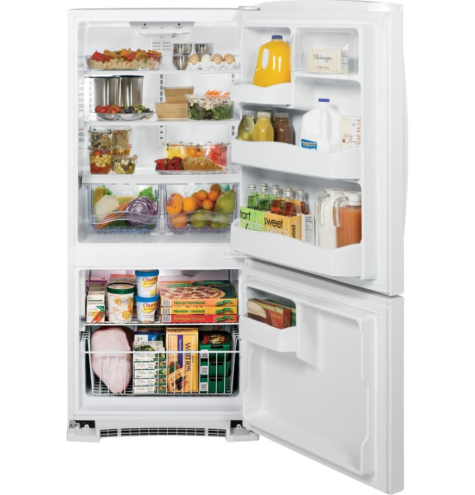 GENERAL ELECTRIC GE(R) 20.3 Cu. Ft. Bottom Freezer Refrigerator