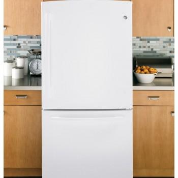 GENERAL ELECTRIC GE(R) ENERGY STAR(R) 20.3 Cu. Ft. Bottom Freezer Refrigerator
