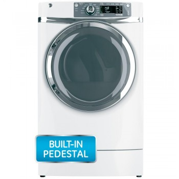 GENERAL ELECTRIC GE(R) 8.3 cu. ft. capacity RightHeight Design Front Load electric dryer with steam