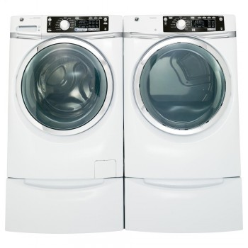 GENERAL ELECTRIC GE(R) ENERGY STAR(R) 4.5 DOE cu. ft. capacity Front Load washer with steam