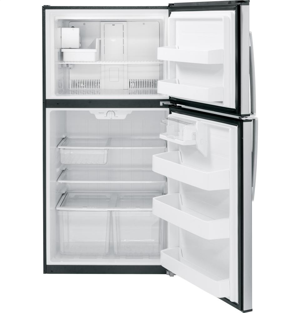 GENERAL ELECTRIC GE(R) ENERGY STAR(R) 21.2 Cu. Ft. Stainless Top-Freezer Refrigerator