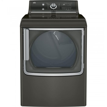 GENERAL ELECTRIC GE(R) 7.8 cu. ft. capacity electric dryer with stainless steel drum and steam