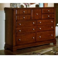 Cottage Triple Dresser - 9 Drawers - Cherry Finish