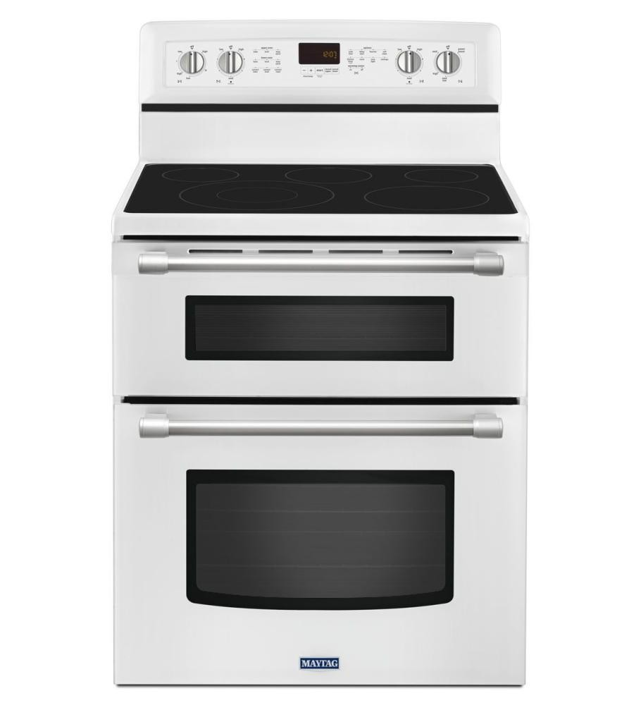 MAYTAG Gemini(R) Double Oven Electric Stove With EvenAir Convection   6.7  Total Cu