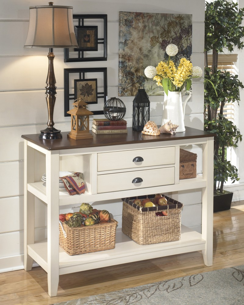 Whitesburg - Dining Room Server | D583-59 | Servers | The Furniture ...