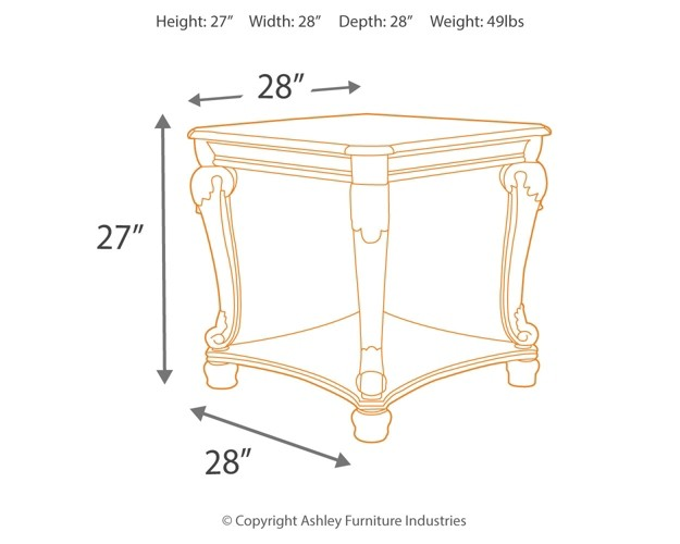 Norcastle - Square End Table